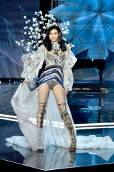 SHANGHAI, CHINA - NOVEMBER 20: Model Ming Xi walks the runway during the 2017 Victoria's Secret Fashion Show In Shanghai at Mercedes-Benz Arena on November 20, 2017 in Shanghai, China. (Photo by Frazer Harrison/Getty Images for Victoria's Secret)
