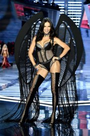 SHANGHAI, CHINA - NOVEMBER 20: Adriana Lima walks the runway during the 2017 Victoria's Secret Fashion Show In Shanghai at Mercedes-Benz Arena on November 20, 2017 in Shanghai, China. (Photo by Frazer Harrison/Getty Images for Victoria's Secret)