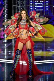 SHANGHAI, CHINA - NOVEMBER 20: Victoria's Secret Angel Alessandra Ambrosio walks the runway during the 2017 Victoria's Secret Fashion Show In Shanghai at Mercedes-Benz Arena on November 20, 2017 in Shanghai, China. (Photo by Frazer Harrison/Getty Images for Victoria's Secret)