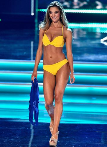 LAS VEGAS, NV - NOVEMBER 26: Miss South Africa 2017 Demi-Leigh Nel-Peters competes in the swimsuit competition during the 2017 Miss Universe Pageant at The Axis at Planet Hollywood Resort & Casino on November 26, 2017 in Las Vegas, Nevada. (Photo by Frazer Harrison/Getty Images)