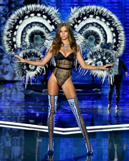 SHANGHAI, CHINA - NOVEMBER 20: Model Josephine Skriver walks the runway during the 2017 Victoria's Secret Fashion Show In Shanghai at Mercedes-Benz Arena on November 20, 2017 in Shanghai, China. (Photo by Frazer Harrison/Getty Images for Victoria's Secret)