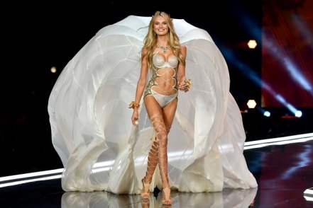 SHANGHAI, CHINA - NOVEMBER 20: Model Romee Strijd walks the runway during the 2017 Victoria's Secret Fashion Show In Shanghai at Mercedes-Benz Arena on November 20, 2017 in Shanghai, China. (Photo by Frazer Harrison/Getty Images for Victoria's Secret)