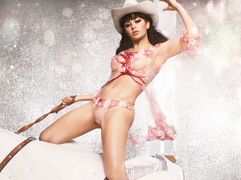 "Singer Charli XCX turns cowgirl as she stars in a rodeo-inspired campaign for lingerie brand Agent Provocateur. The 27-year-old features in the company's racy festive campaign ahead of Christmas. ""Nothing says Christmas like naughty and nice with a dash of cowgirl,"" said the star, real name Charlotte Emma Aitchison. ""I love all these pieces so much and this whole shoot day was so wild – so fun. It was a pleasure to work with such a legendary brand."" Editorial use only. Please credit AgentProvocateur.com/MEGA. 11 Nov 2019 Pictured: Charli XCX for Agent Provocateur. Photo credit: AgentProvocateur.com/MEGA TheMegaAgency.com +1 888 505 6342 (Mega Agency TagID: MEGA546719_001.jpg) [Photo via Mega Agency]"