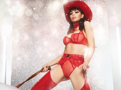 "Singer Charli XCX turns cowgirl as she stars in a rodeo-inspired campaign for lingerie brand Agent Provocateur. The 27-year-old features in the company's racy festive campaign ahead of Christmas. ""Nothing says Christmas like naughty and nice with a dash of cowgirl,"" said the star, real name Charlotte Emma Aitchison. ""I love all these pieces so much and this whole shoot day was so wild – so fun. It was a pleasure to work with such a legendary brand."" Editorial use only. Please credit AgentProvocateur.com/MEGA. 11 Nov 2019 Pictured: Charli XCX for Agent Provocateur. Photo credit: AgentProvocateur.com/MEGA TheMegaAgency.com +1 888 505 6342 (Mega Agency TagID: MEGA546719_004.jpg) [Photo via Mega Agency]"